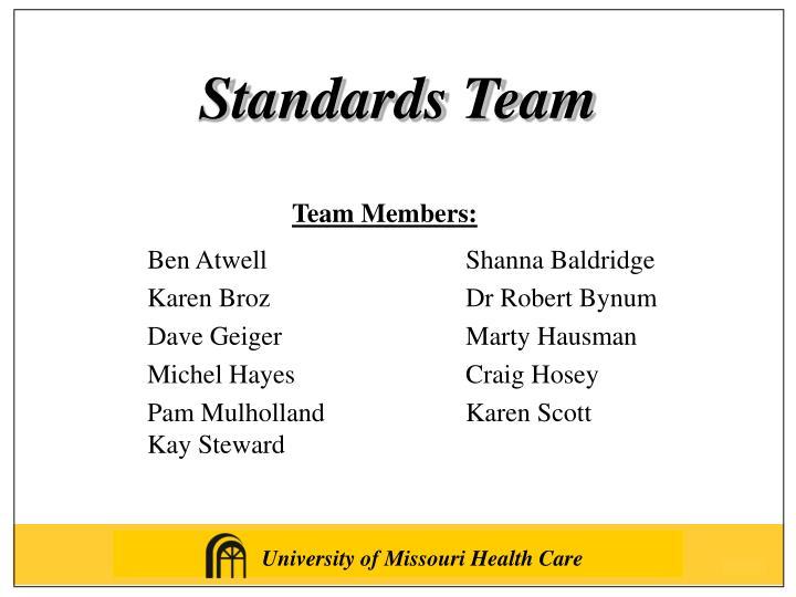 Standards Team