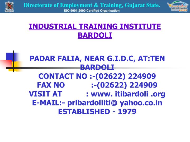 Industrial training institute bardoli