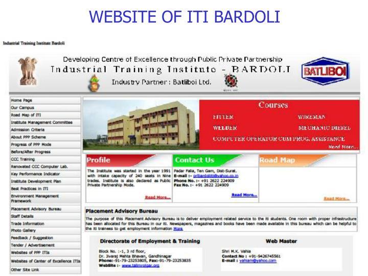 WEBSITE OF ITI BARDOLI