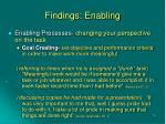 findings enabling