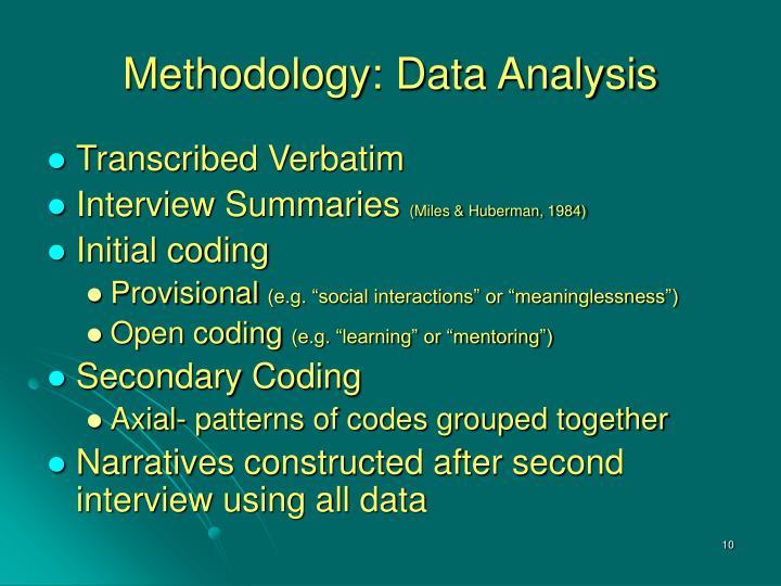 Methodology: Data Analysis