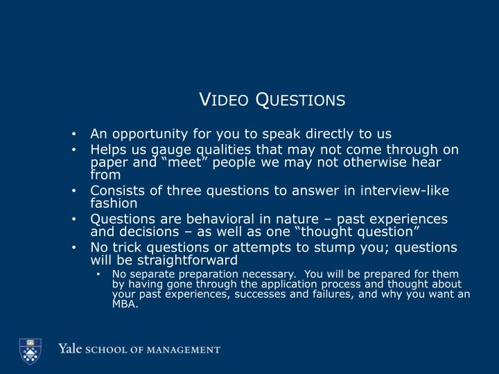 Video Questions