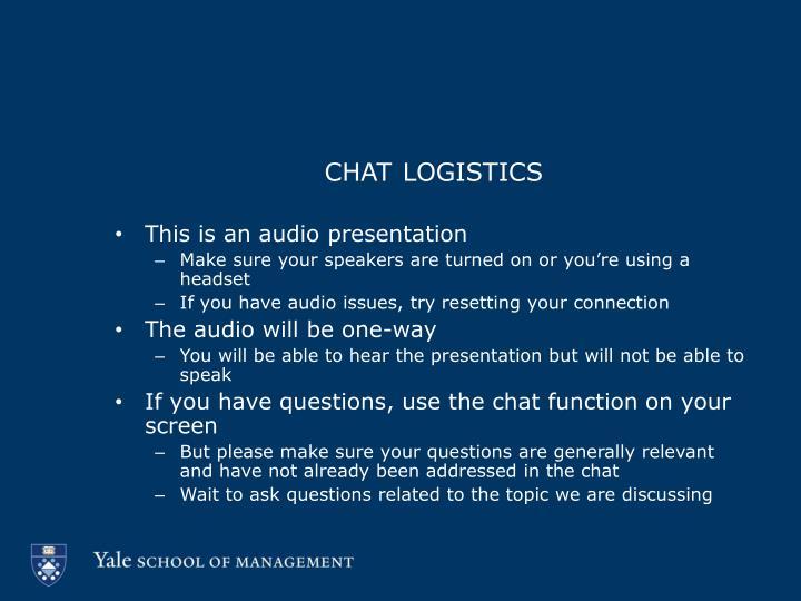 chat logistics