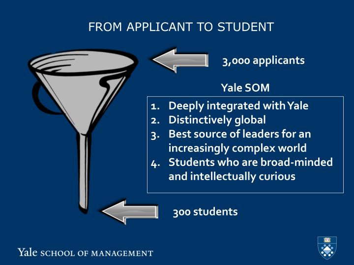 FROM APPLICANT TO STUDENT