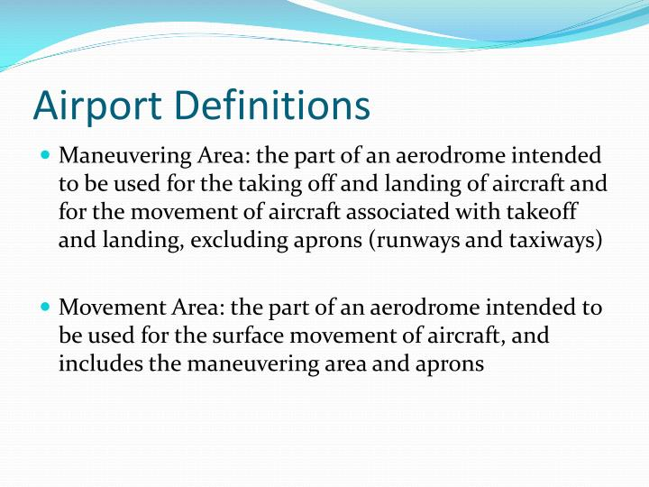 Airport Definitions