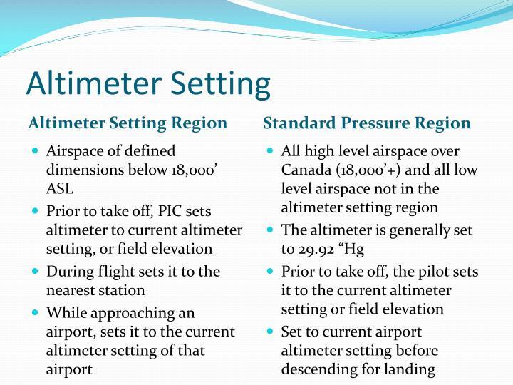Altimeter Setting