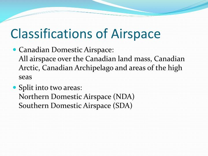 Classifications of Airspace