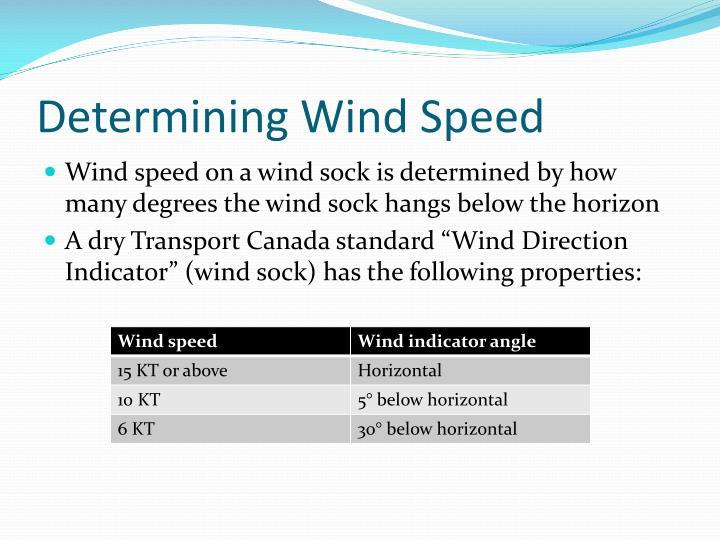Determining Wind