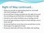 right of way continued