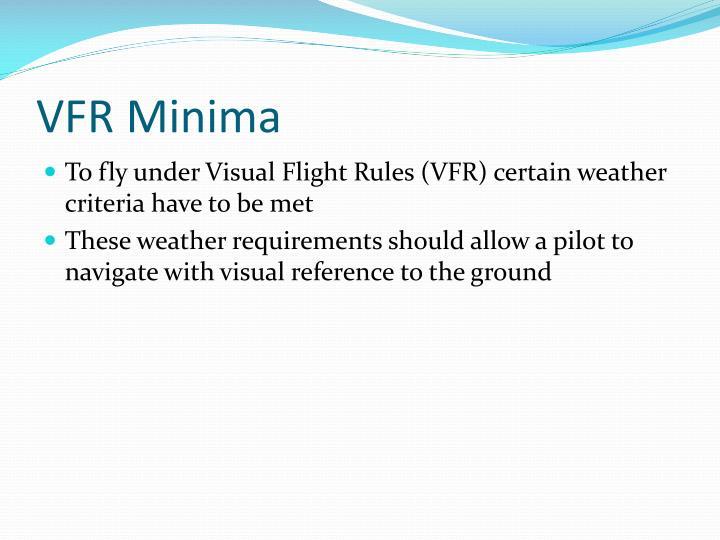 VFR Minima