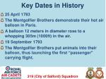 key dates in history1