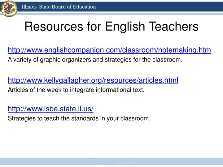Resources for English Teachers