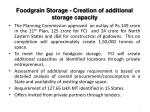 foodgrain storage creation of additional storage capacity