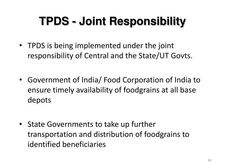 TPDS - Joint Responsibility