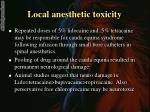 local anesthetic toxicity1