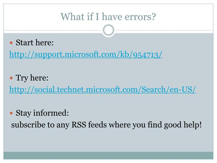 What if I have errors?