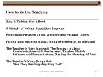 how to do the teaching4