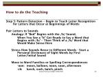 how to do the teaching6