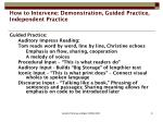 how to intervene demonstration guided practice independent practice1