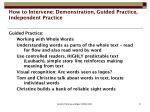 how to intervene demonstration guided practice independent practice2