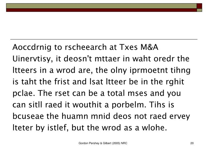 Aoccdrnig to rscheearch at Txes M&A