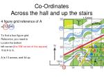 co ordinates across the hall and up the stairs