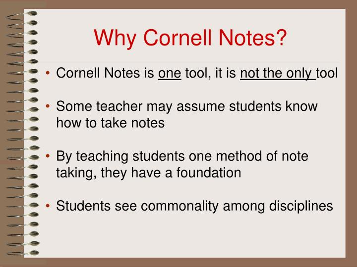 Why cornell notes