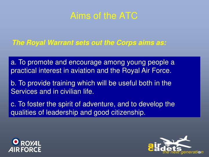 Aims of the ATC
