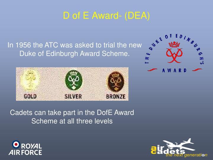 D of E Award- (DEA)