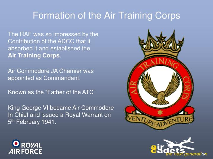 Formation of the Air Training Corps