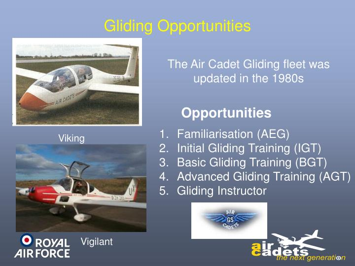 Gliding Opportunities