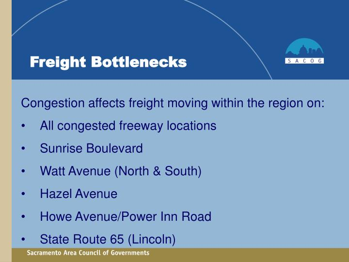 Freight Bottlenecks