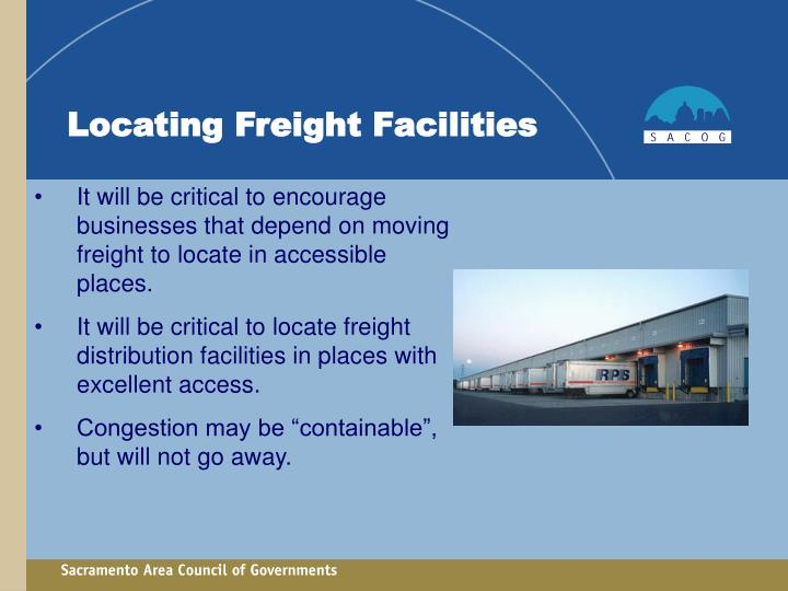 Locating Freight Facilities