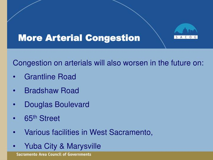 More Arterial Congestion