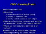 obec elearning project