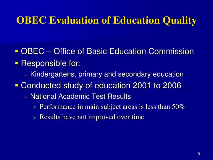 OBEC Evaluation of Education Quality