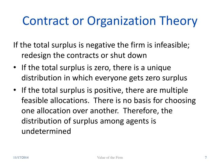 Contract or Organization Theory