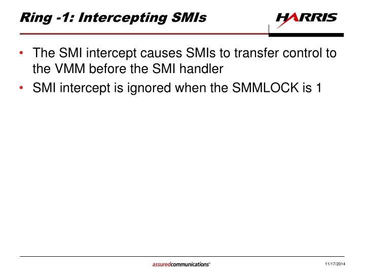 Ring -1: Intercepting SMIs