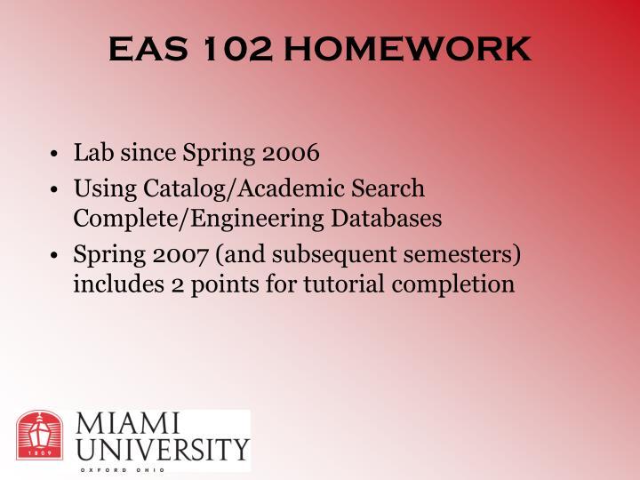 EAS 102 HOMEWORK
