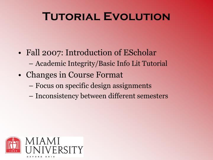 Tutorial Evolution
