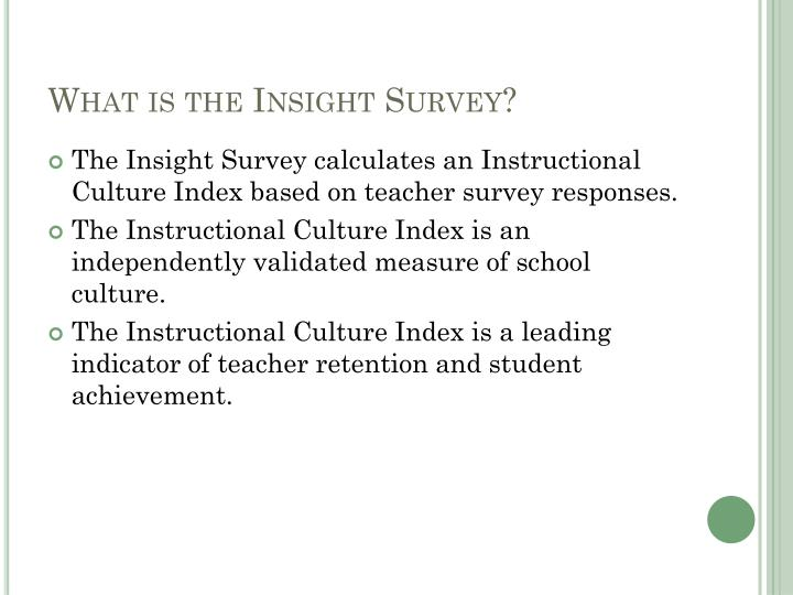 What is the insight survey
