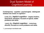 dual system model of cognition learning