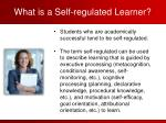 what is a self regulated learner