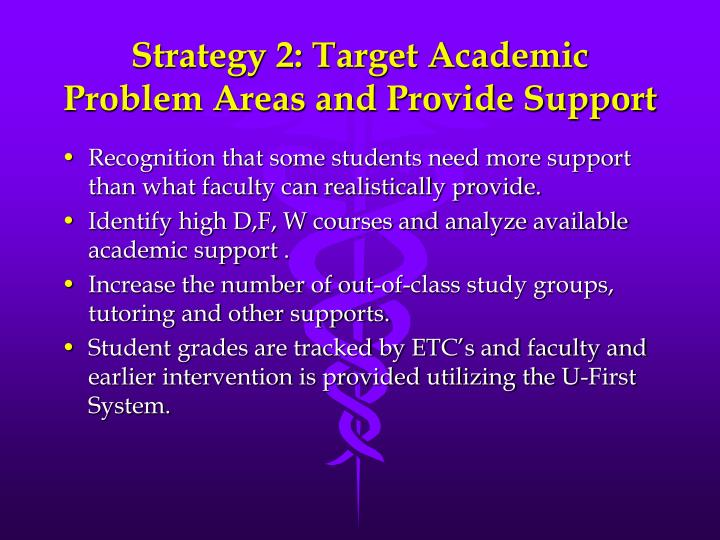 Strategy 2: Target Academic Problem Areas and Provide Support