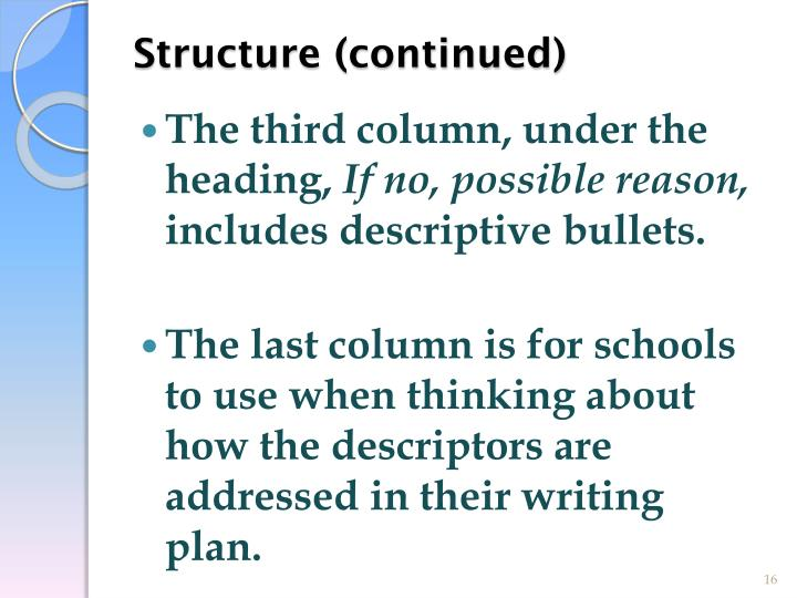 Structure (continued)