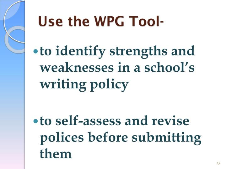 Use the WPG Tool-