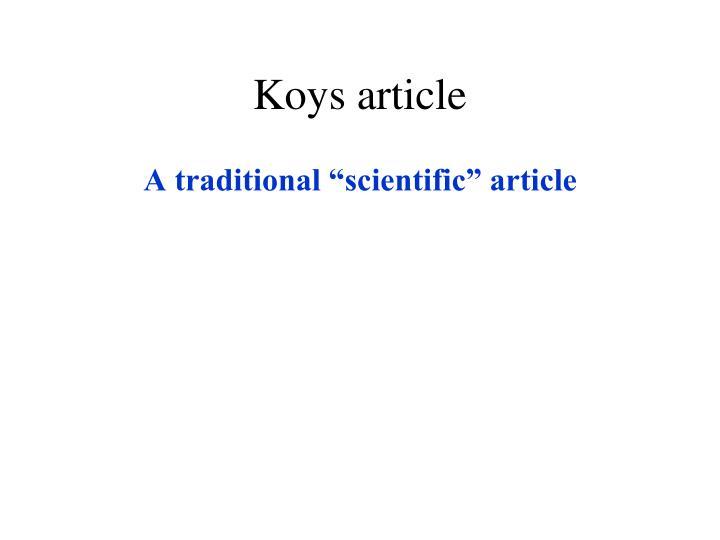 Koys article
