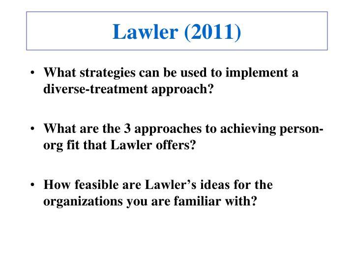 Lawler (2011)