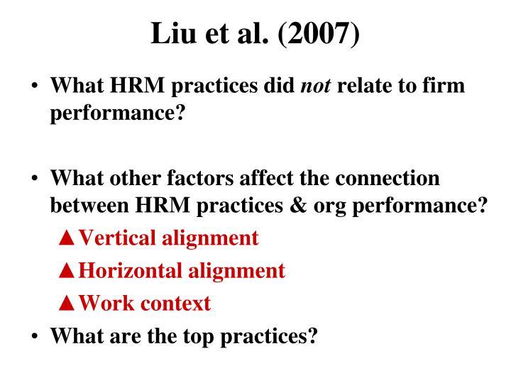 Liu et al. (2007)