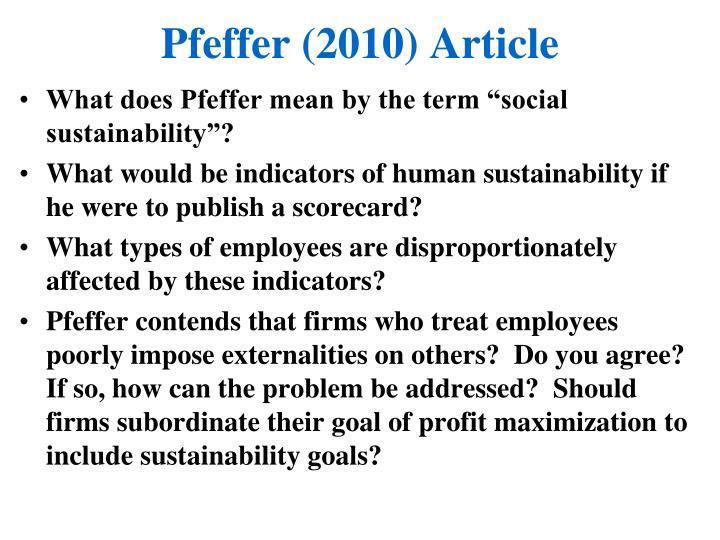 Pfeffer (2010) Article